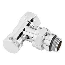 Клапан запорный Danfoss RLV-CX | Угловой | Хромированный