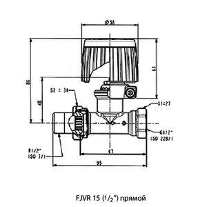 Комплект обратного потока RTL Danfoss FJVR 003L1080 прямой