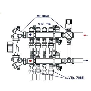 Полипропиленовый фитинг Valtec Vtp.708E