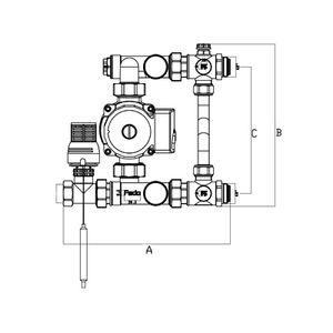 Насосно-смесительный узел Fado SG01